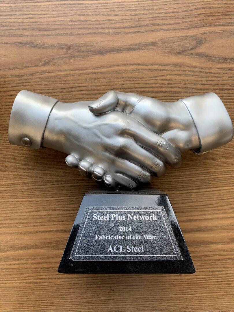 steel plus network award 2014 trophy