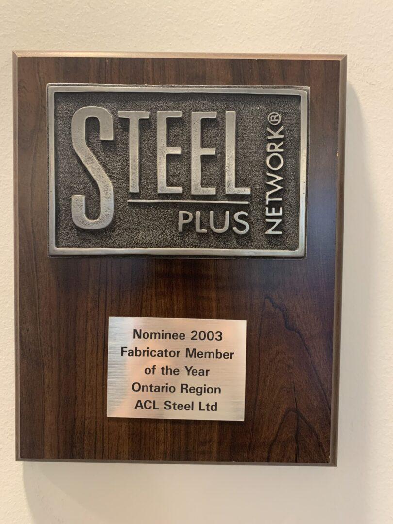 steel plus network nominee plaque